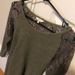 Lacey green candies shirt